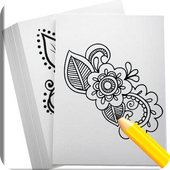Draw Henna Tattoo Design icon