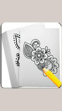 Draw Henna Tattoo Design poster