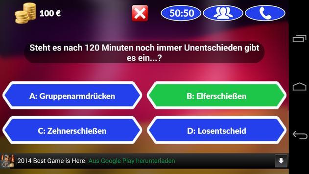 Fussball Quiz 2014 screenshot 1