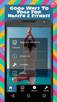 Yoga For Health & Fitness poster