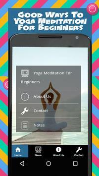 Yoga Meditation For Beginners poster