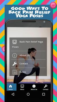 Back Pain Relief Yoga Poses poster