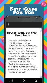 Dumbbells Home Workout screenshot 3