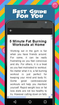 5 Minute Home Workouts screenshot 1