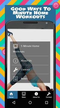 5 Minute Home Workouts screenshot 2