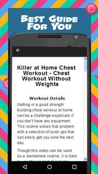 Home Chest Workout screenshot 1