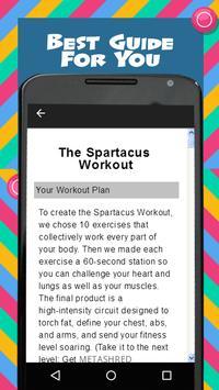 Spartacus Workout apk screenshot
