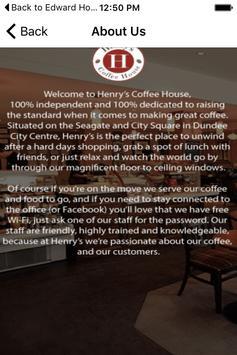 Henrys Coffee apk screenshot
