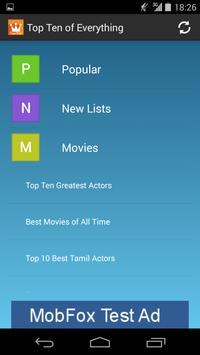 Top Ten of Everything apk screenshot