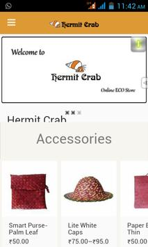 Hermit Crab- The eco store app poster