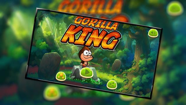 Gorilla king run poster