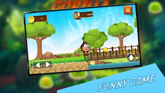 Gorilla king run screenshot 1