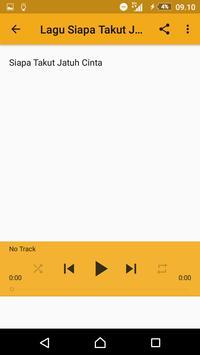 Lagu Siapa Takut Jatuh Cinta + Video apk screenshot
