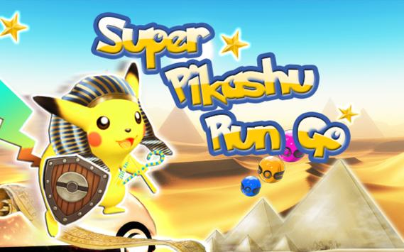 Super Pikashu Go Run Jump poster
