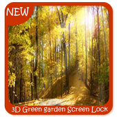 3D Green garden Screen Lock Wallpaper Free icon