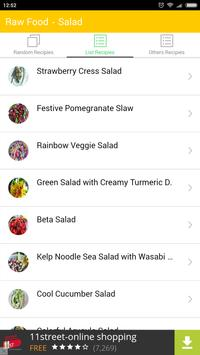 Raw Food Vegan - Salad apk screenshot