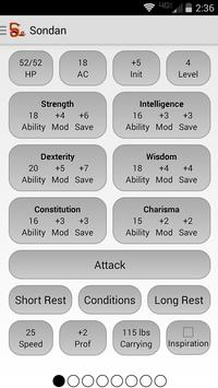 Squire - Character Manager apk screenshot