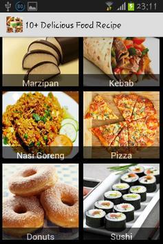 10+ Delicious Food Recipe screenshot 1