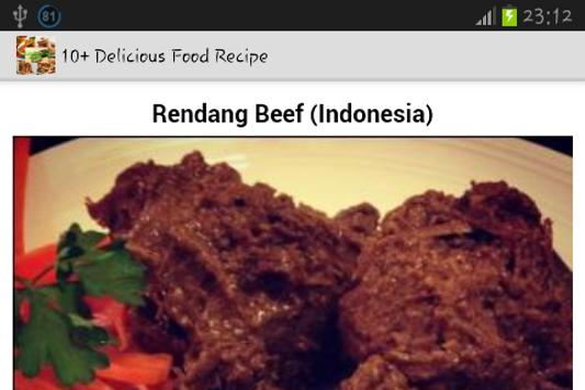 10+ Delicious Food Recipe screenshot 4