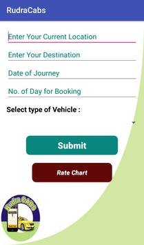 Rudra Cabs screenshot 2