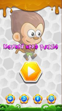 Monkey Hexa Puzzle poster