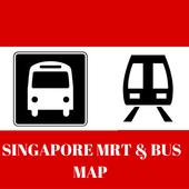 SINGAPORE MRT & BUS MAP icon
