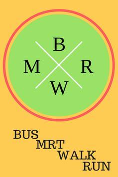 SINGAPORE MRT & BUS MAP poster