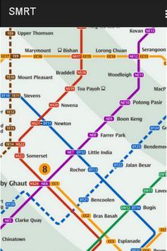 SINGAPORE MRT & BUS MAP screenshot 1