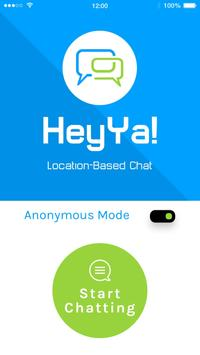 HeyYa- location based Chat poster