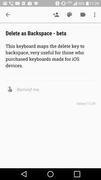 Delete as Backspace - beta poster