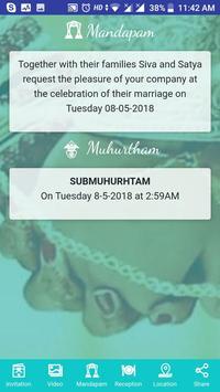 SIVA WEDS SATHYA INVITATION screenshot 2