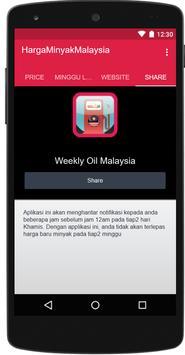 Harga Minyak Malaysia poster