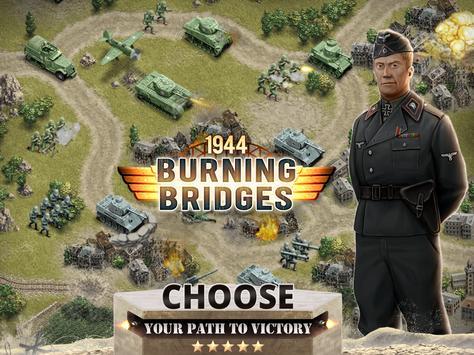 1944 Burning Bridges - a WW2 Strategy War Game screenshot 10