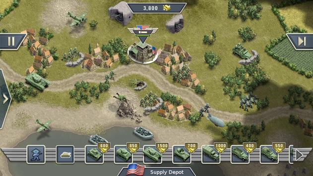 1944 Burning Bridges - a WW2 Strategy War Game screenshot 11
