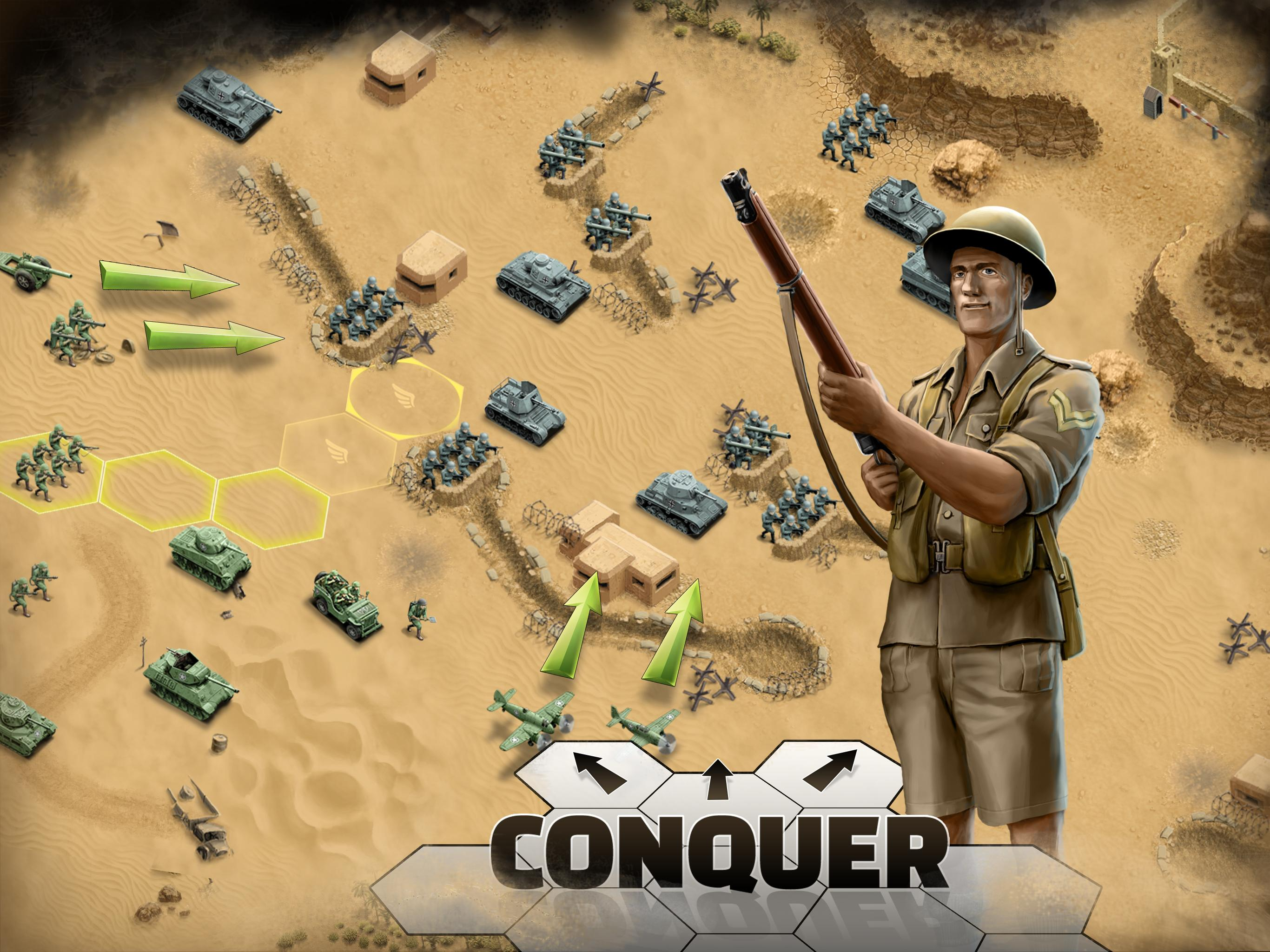 1943 Deadly Desert - a WW2 Strategy War Game for Android
