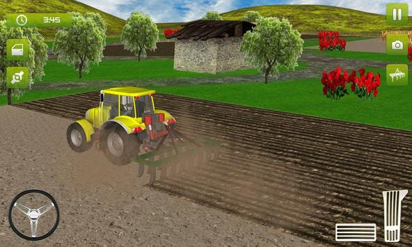 Real Farming Tractor Trolley Simulator; Game 2019 ポスター