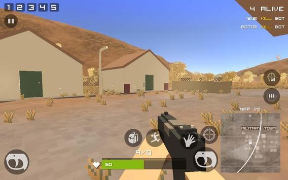 Grand Pixel Royale Battlegrounds Mobile Battle 3D screenshot 5