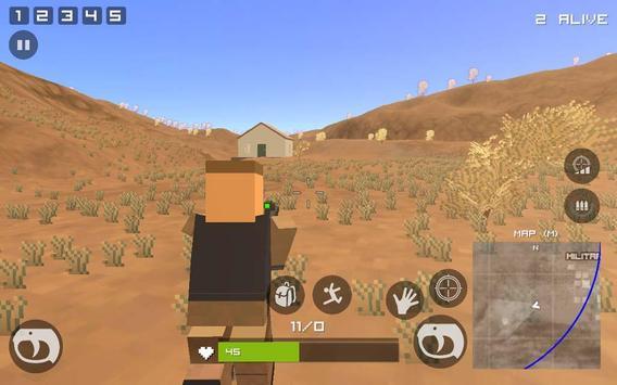 Grand Pixel Royale Battlegrounds Mobile Battle 3D screenshot 8
