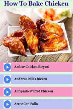 How To Bake Chicken Recipes Vidoes apk screenshot