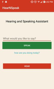 HearNSpeak screenshot 1