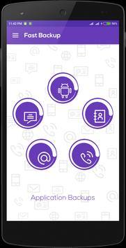 Fast Backup: Contact & SMS poster