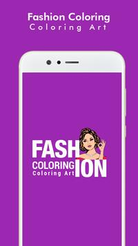 Fashion Coloring Book :: Adult Coloring Art Book poster