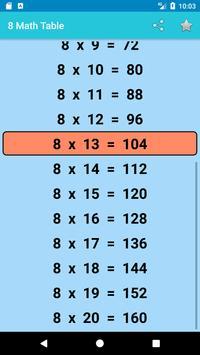 Maths Multiplication Table 2018 screenshot 5