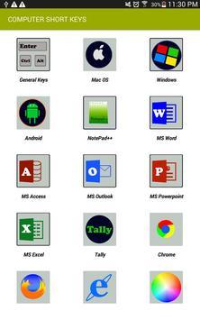 Computer Shortcut Keys Offline 2018 poster