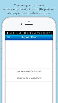 Highway Hand Roadside Assist apk screenshot