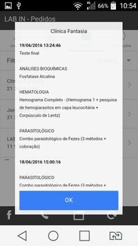 LAB IN - Solicitação de Exames screenshot 5