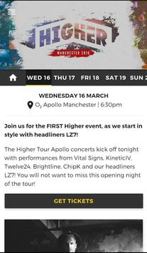 Higher Tour poster