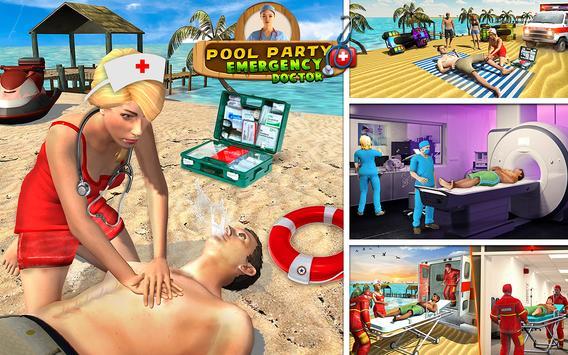 Beach Party Emergency Surgery Doctor Simulator 3D screenshot 9