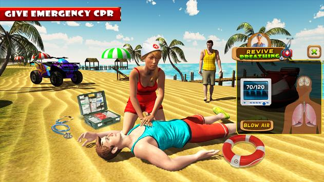 Beach Party Emergency Surgery Doctor Simulator 3D poster