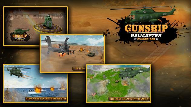 Gunship Helicopter Modern war 3d screenshot 4